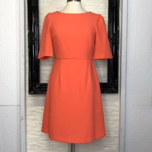 BETSYEY JOHNSON Orange/Coral Sheath Dress